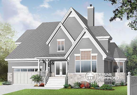 88 best plans de maison style manoir mod les europ en et - Plan de maison luxueuse ...