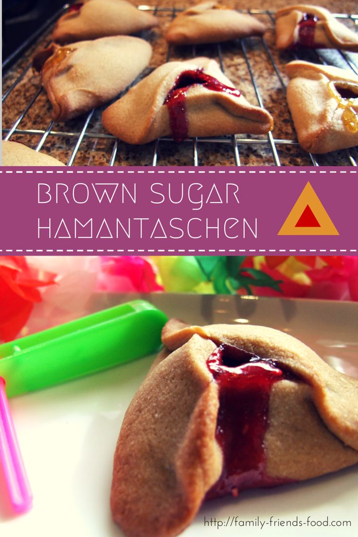 The brown sugar crust is crisp on the outside, tender within, and the fruity jam filling keeps these delicious hamantaschen moist and moreish. Quick & easy!
