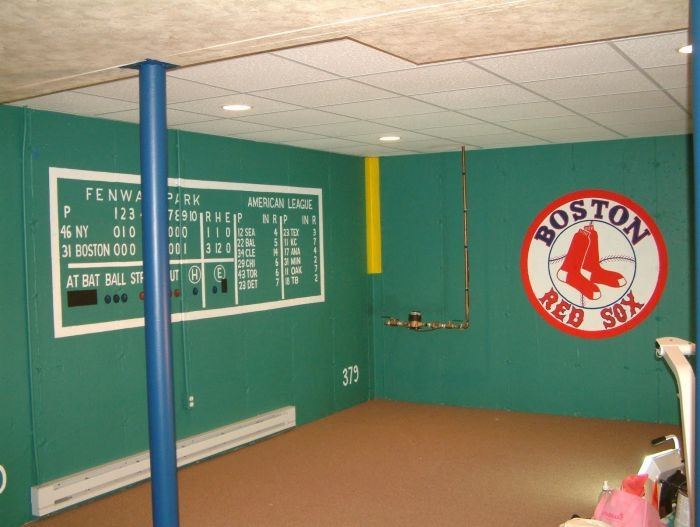 33 best boston red sox rooms wo man caves images on for Baseball scoreboard wall mural