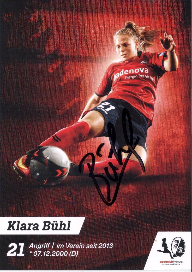 2017-18 SC Freiburg Klara Bühl autograph