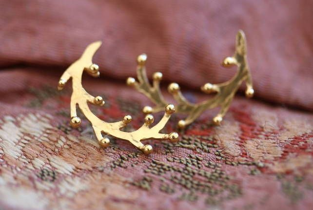 Handmade Gold Plated Samphire Earrings £68.00