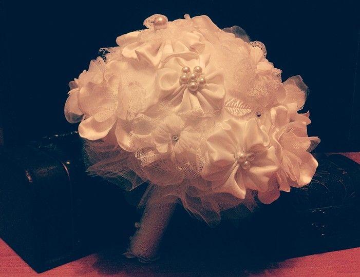 Handmade bride bouquet