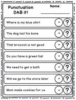 Dab It Activities