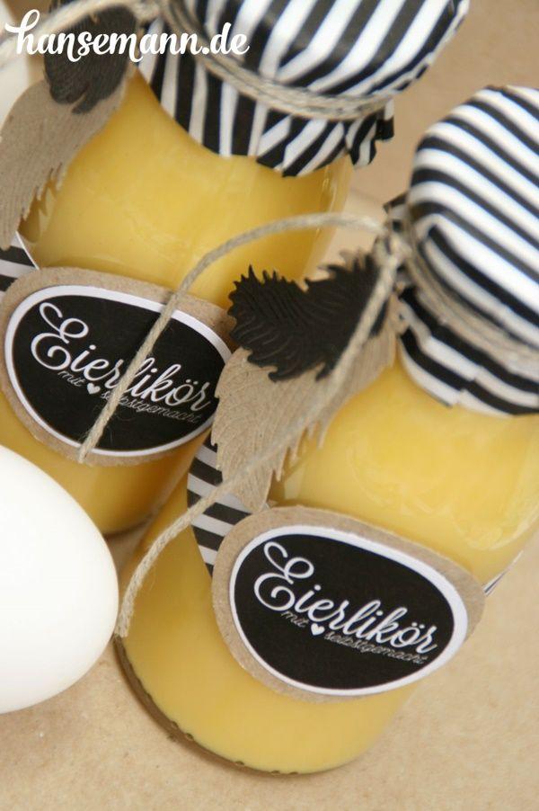 E in wirklich süßes Ostergeschenk!     Eierlikör selber zu machen ist gar nicht so schwer   und ist zu Ostern immer ein beliebtes Ges...