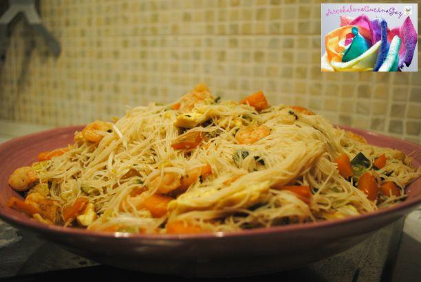 Spaghetti di riso con verdure- RICETTA CINESE