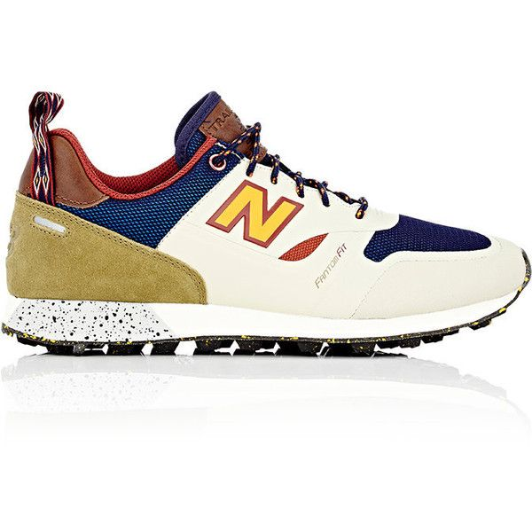 New Balance Men's Trailbuster Re-Engineered Sneakers featuring polyvore, men's fashion, men's shoes, men's sneakers, multi, new balance mens sneakers, mens low tops, colorful mens shoes, mens sneakers and mens lace up shoes