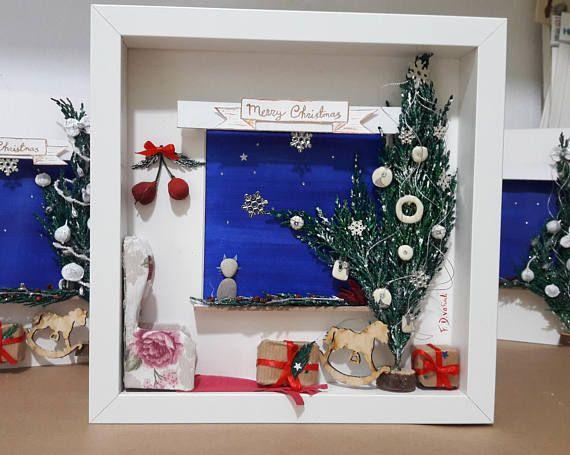 https://www.etsy.com/listing/566615723/pebble-art-christmas-christmas-mood-cat #fdvafiadi #driftwoodfdvafiadi