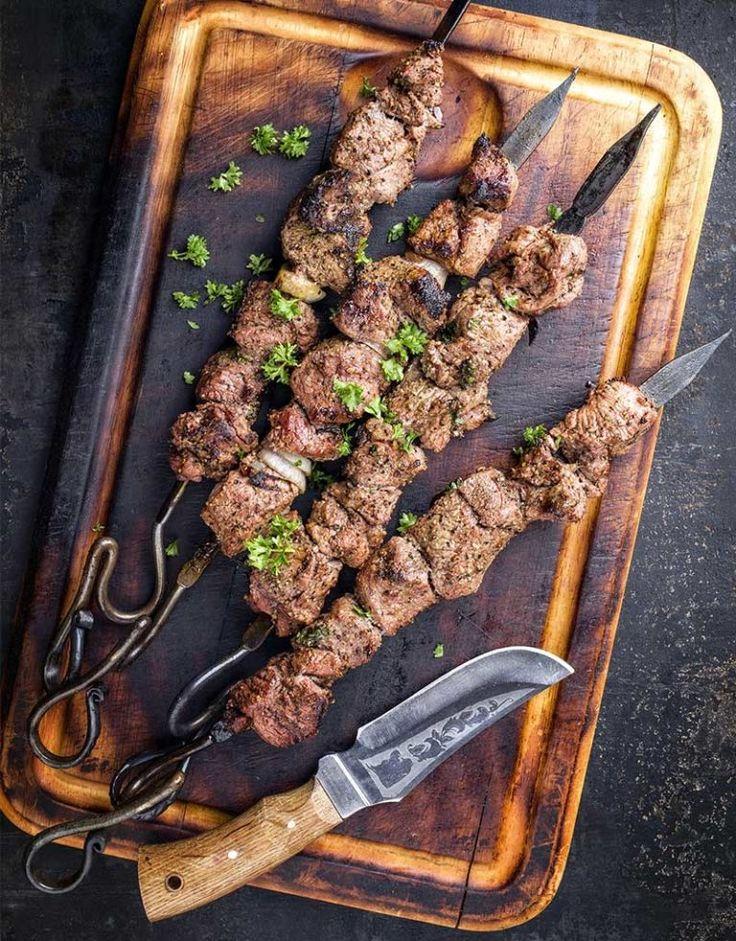russisch schaschlik fleischzubereitung aus schweinefleisch