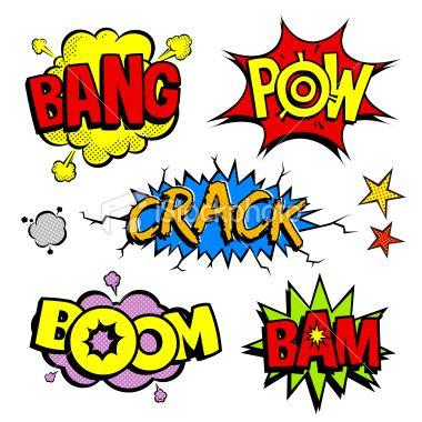 Pop Art Cartoon noises Royalty Free Stock Vector Art Illustration