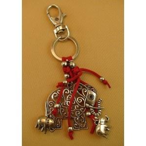 Llavero Elefante Rojo