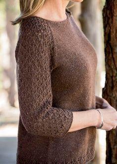 Вязание пуловера спицами Brick Lane, Interweave Knits весна 2014. Дизайнер: Amanda Scheuzger.