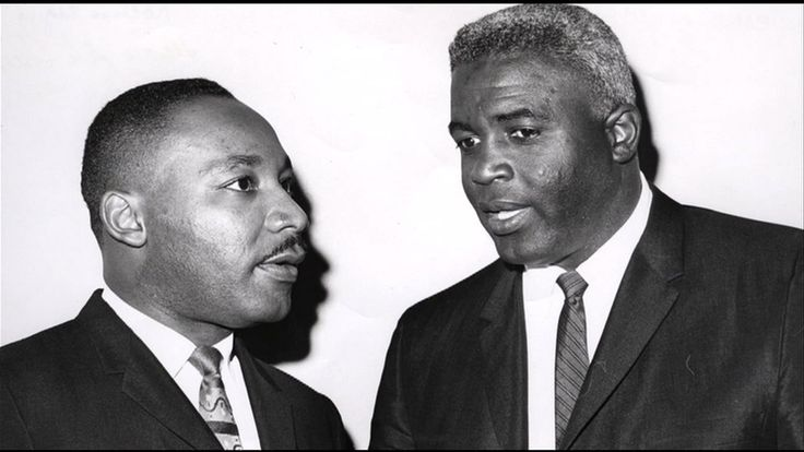 Dr Martin Luther King and Jackie Robinson
