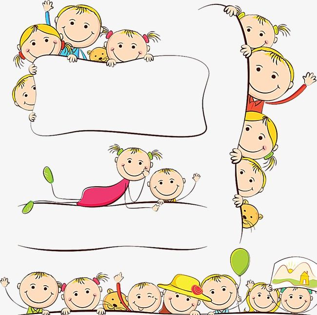 أطفال الكرتون الإطار كرتون رسمت باليد طفلpng صورة Painting For Kids Kids Design Cartoon Drawings