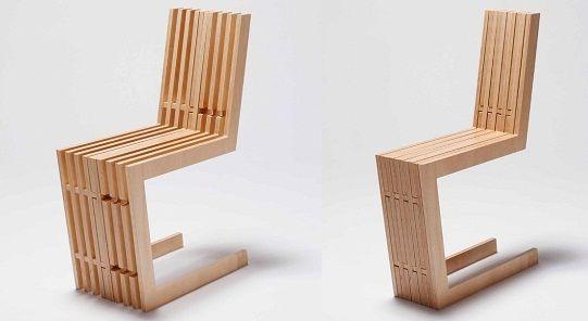 delicada silla de madera compacta y funcional muebles
