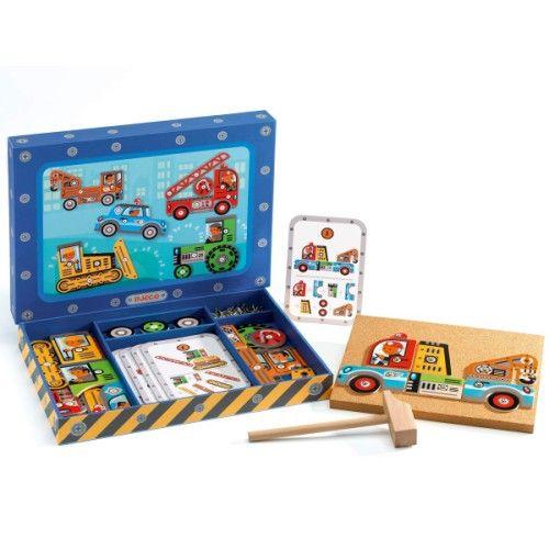 Atelier de bricolage Tap tap Véhicules Djeco pour enfant de 4 ans à 8 ans - Oxybul éveil et jeux