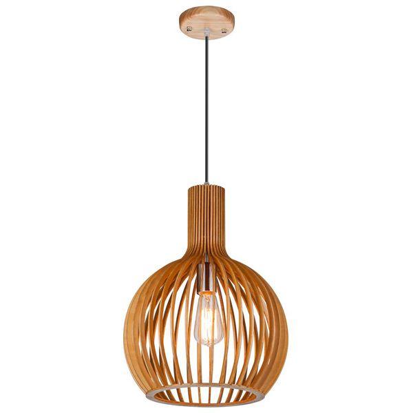 Octo - Merta retro design hanglamp hout 35 cm.
