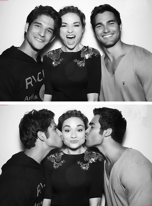 Tyler Posey, Crystal Reed, and Tyler Hoechlin