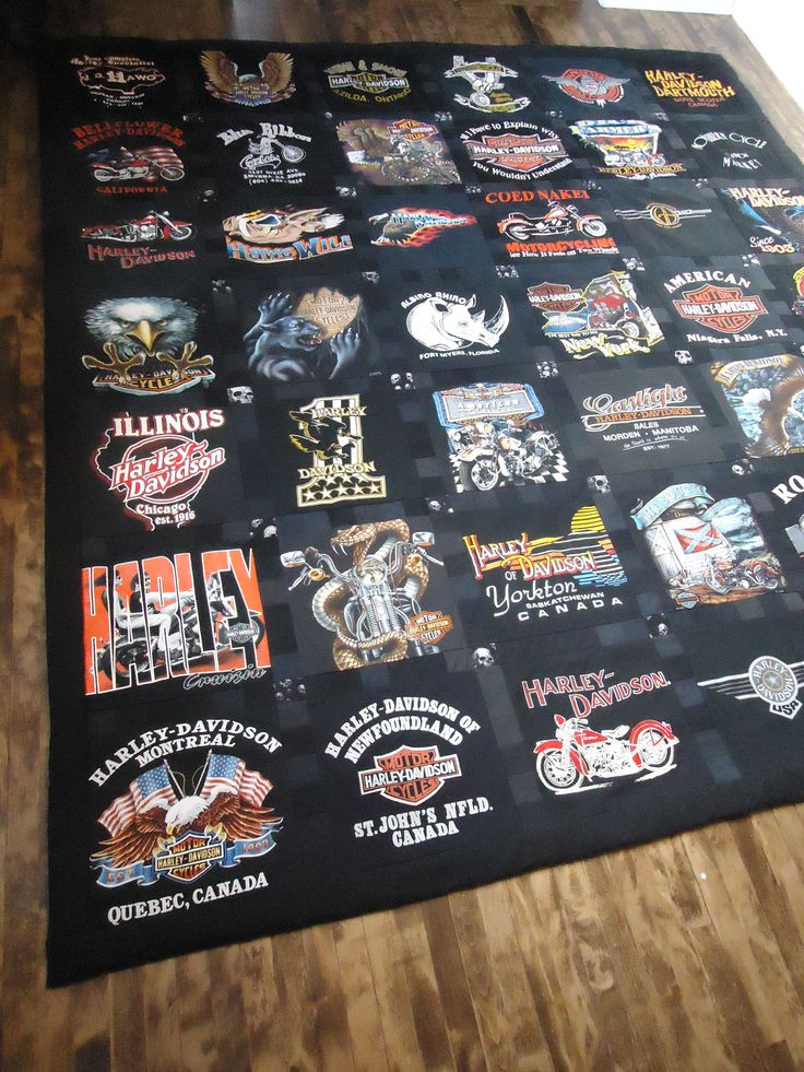 Harley Davidson T-Shirt Quilt made by Lux Keepsake Quilts