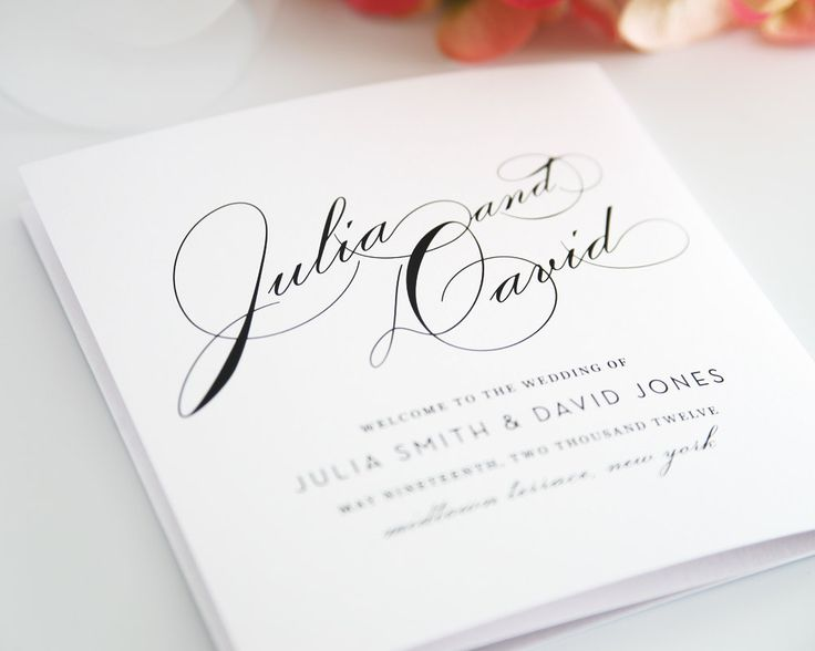 Best Wedding Programs Images On   Wedding Ceremonies