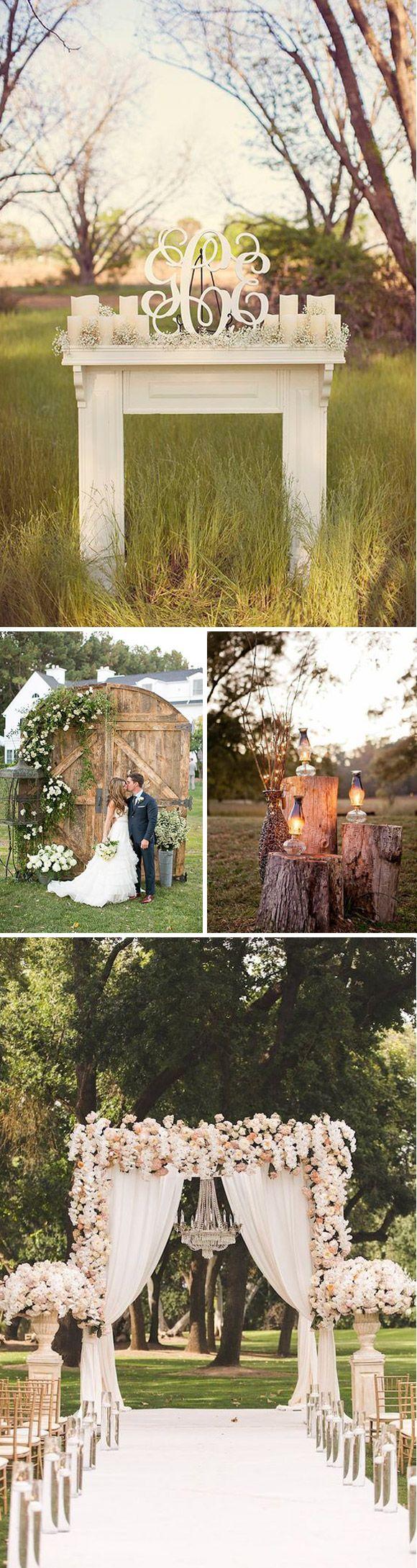 Ideas para decorar el altar de tu #boda estilo rústico
