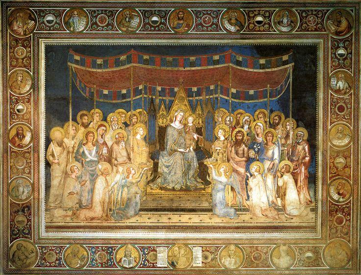 Simone Martini - La Maestà di Palazzo pubblico (1312-1315) - Siena, Palazzo pubblico - Sala del Mappamondo - #Siena #SimoneMartini #PalazzoPubblico