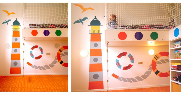 Original Art and Mural Design- wall design for modern living space for kids. Created by Lucie Jirku (Studio CODECO).