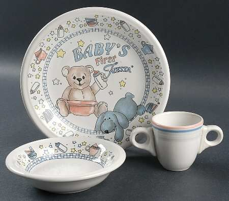 "Homer Laughlin China/Fiesta® ""Baby's First Fiesta"" with double ring handles on cup 