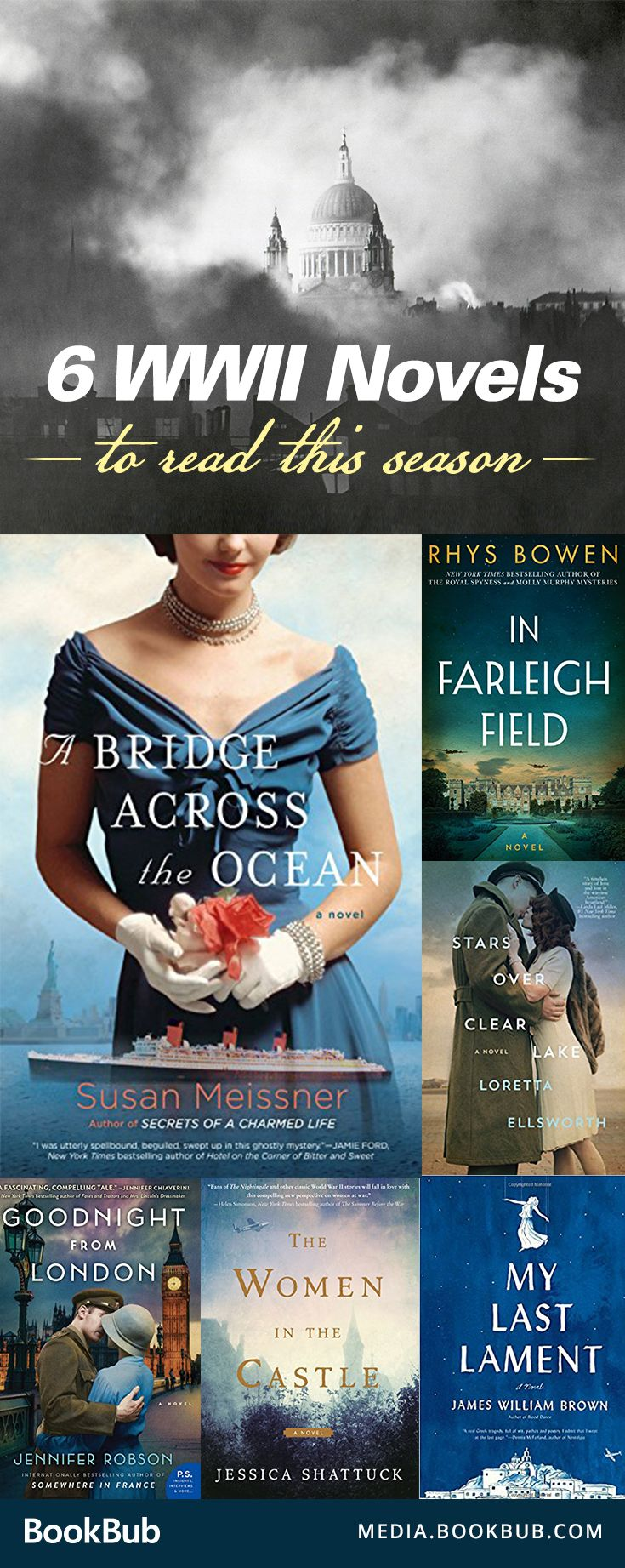 6 World War II novels to read this season. If you love historical fiction, particularly about WWII, these great novels are for you! Featuring a great romance, suspense, and adventure.