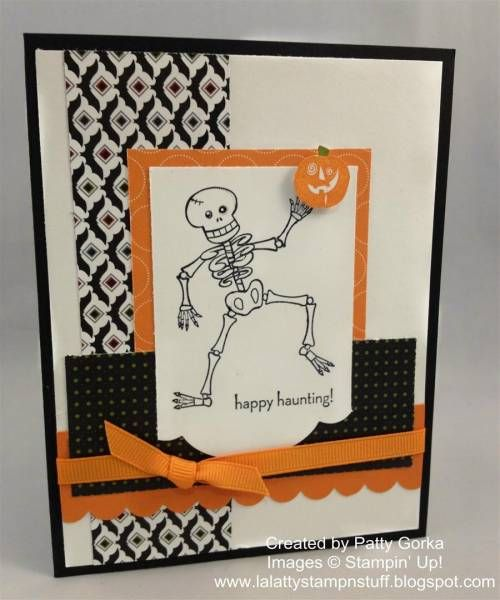 Halloween Skeleton by LaLatty - Cards and Paper Crafts at Splitcoaststampers