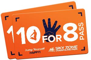 Sky Zone Trampoline Park Corporate 10 for 8 Pass