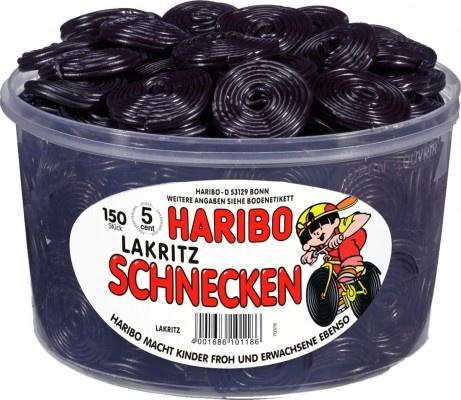 Haribo Lakritz-Schnecken, Rotella, Lakritz, 150 Stück Lakritz Lakritz ohne Gelatine