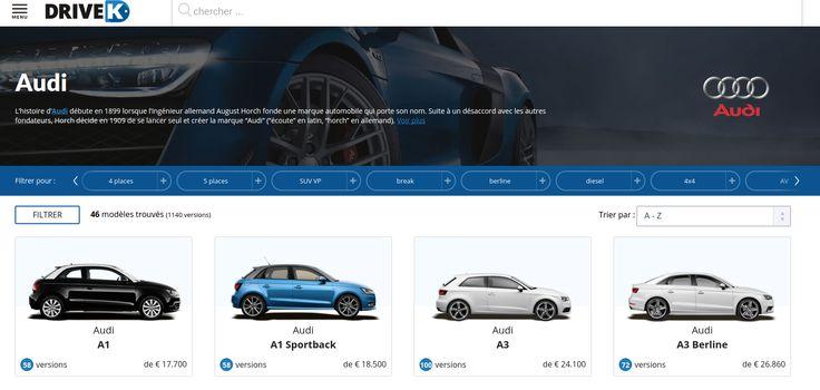 Découvrez les plus belles photos et configurez votre voiture #Audi sur #DriveK.  https://www.drivek.fr/audi/