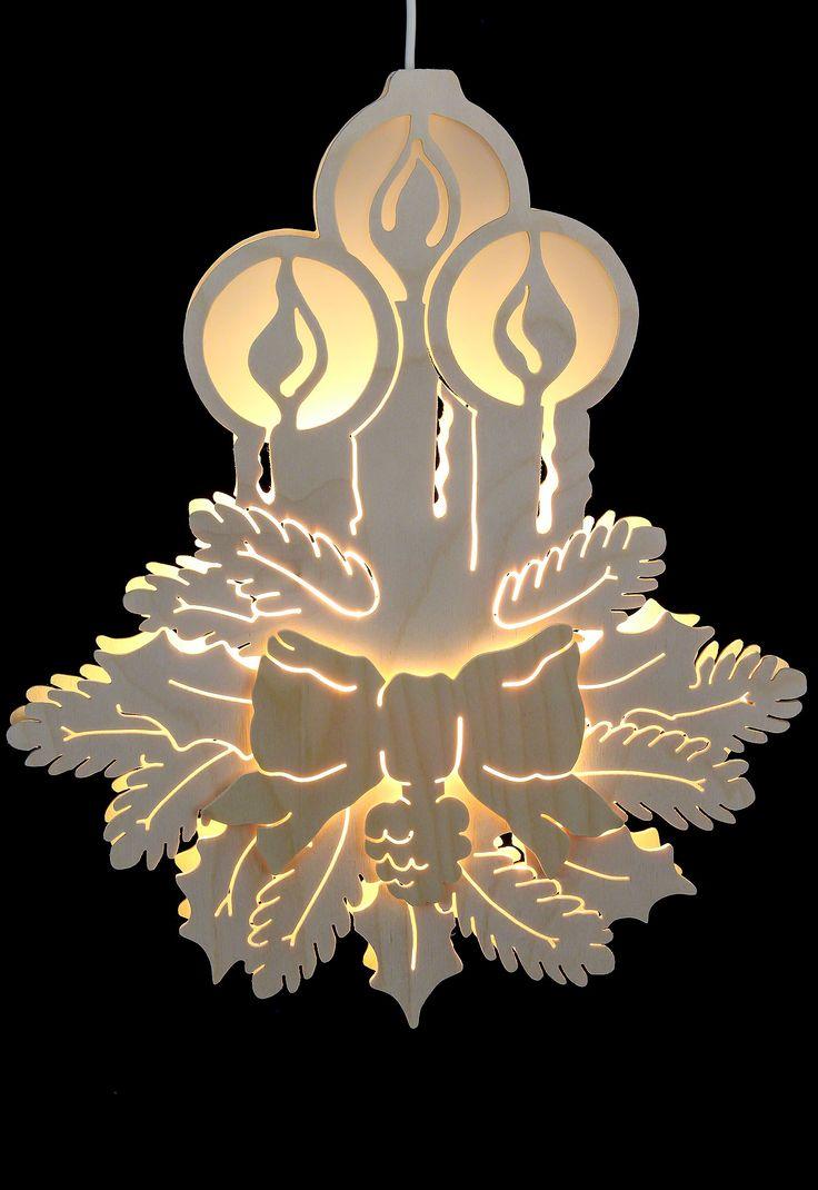 Fensterbild - Drei Kerzen - Durchm. 30,5cm von Michael Müller
