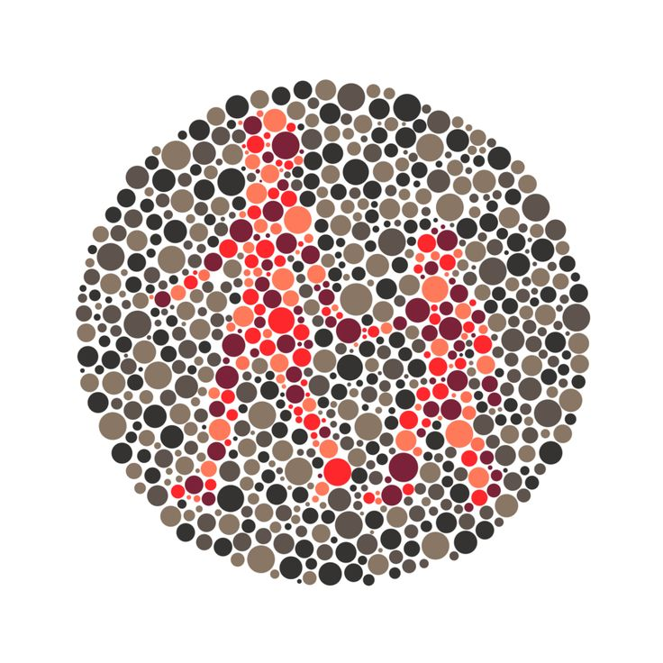 My painting paints a color chart for color blindness. I draw a relationship between ...