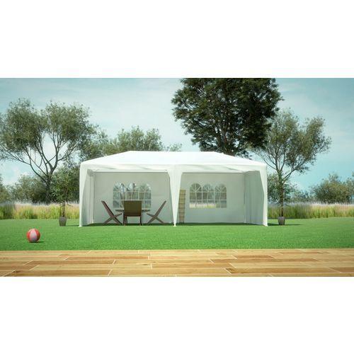 Alice's Garden - Tente de jardin pergola 3x6m Aginum toile blanche barnum tonnelle chapiteau réception - pas cher Achat/Vente Tentes de réception - RueDuCommerce