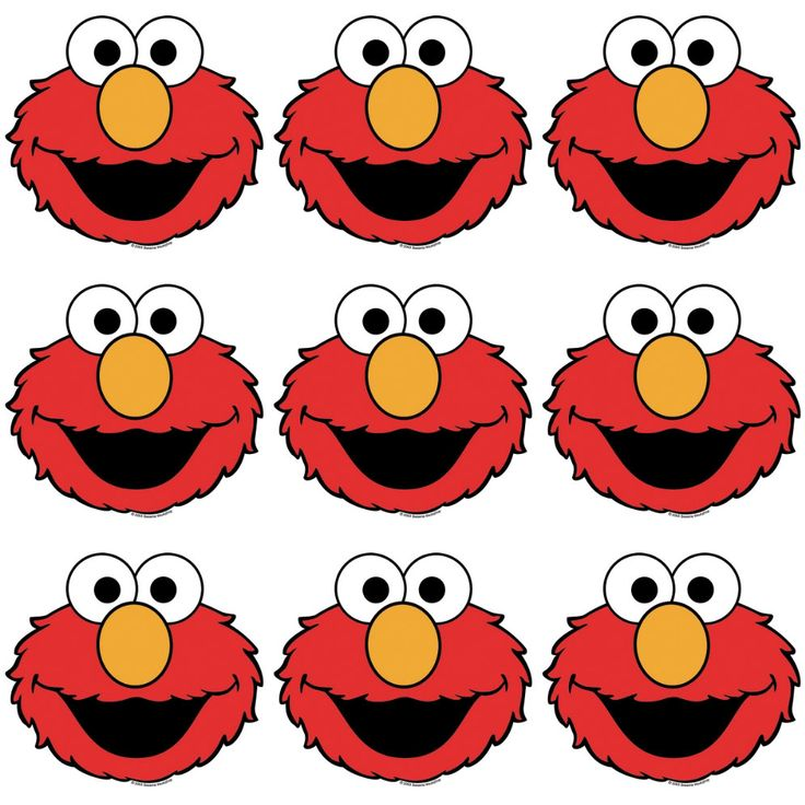 215 best images about sesame street printables on for Printable elmo cake template