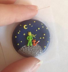 Polymer Clay Pendant, Whimsical, Le petit Prince, Minature made by Miriam Heindl
