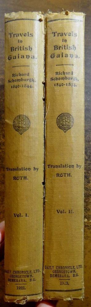 Richard Schomburgk's Travels in British Guiana 1840-1844 Guyana 2-VOL.SET Maps