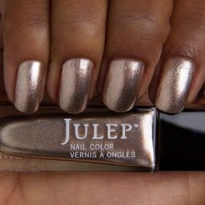 Julep nail polish, color: Zelda (metallic rose gold, with a touch of silver) 2013