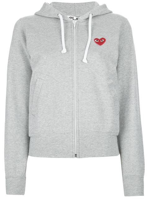 Shop Comme Des Garçons Play embroidered heart hoodie in Traffic Los Angeles from…