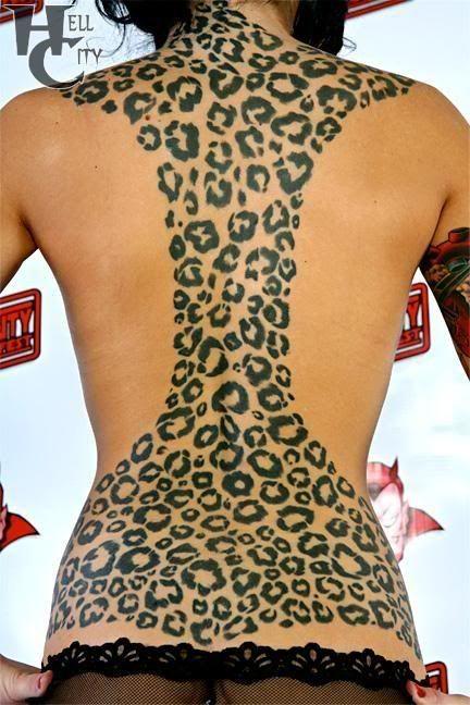 leopard print tattoo