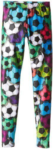 Black Friday Zara Terez Girls 7-16 Soccer Ballz Leggings, Multi, Large from Zara Terez Cyber Monday