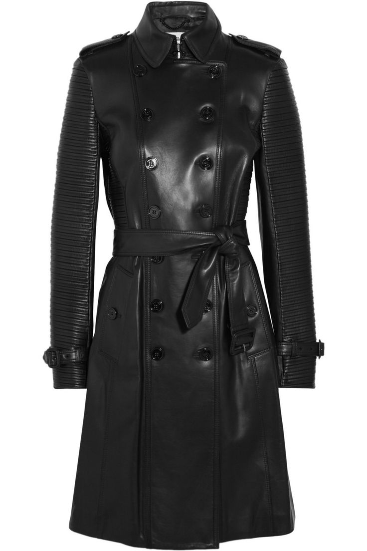 Burberry London Ribbed leather trench coat NET-A-PORTER.COM bad bitch alert