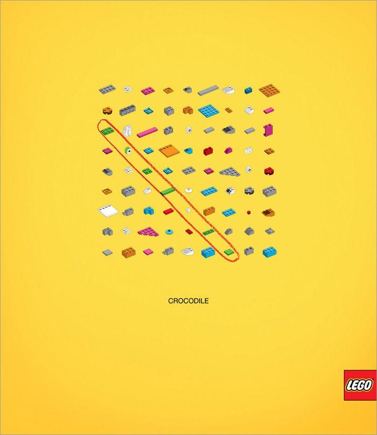 Lego - Nouvelle campagne, une fois de plus très visuelle !