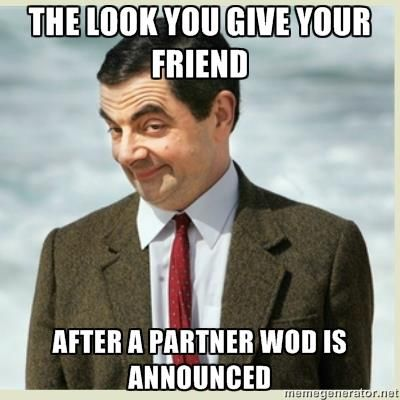 The look you give your friend after a partner WOD is announced! #crossfit
