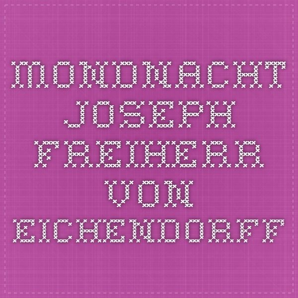 Mondnacht - Joseph Freiherr von Eichendorff