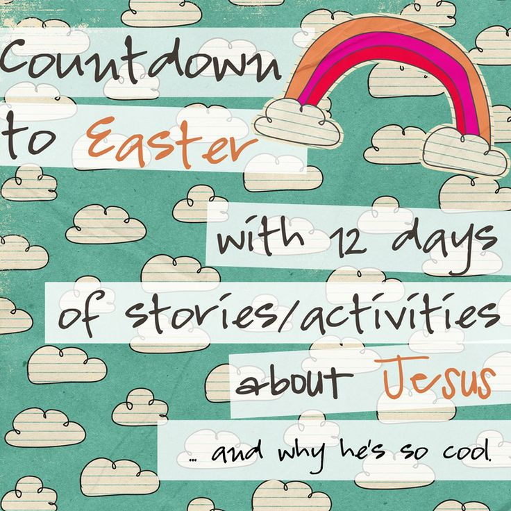 12 Day Easter count down activities