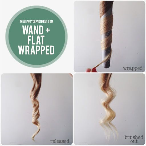 wand waves, wrapped flat