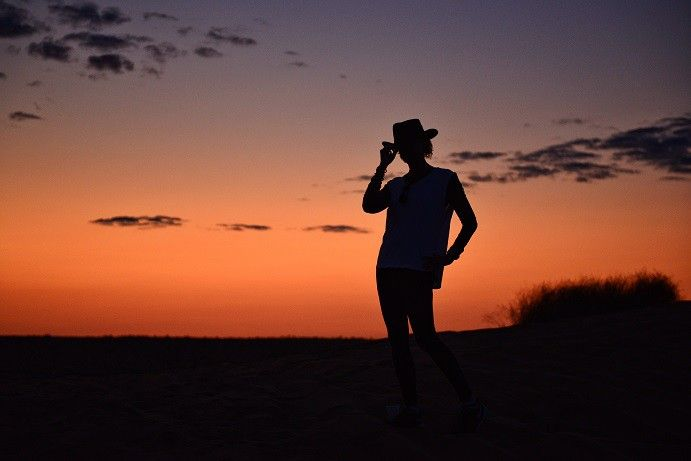 For classic silhouette pictures against the Simpson Desert, you'll want to make tracks up Big Red, the tallest sand dune in the Simpson Desert. #thisisqueensland