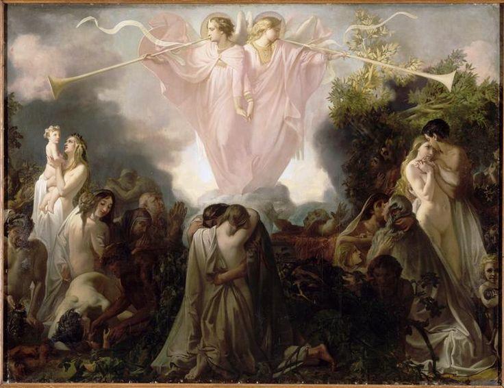 Mottez Victor (1809-1897)  - La Résurrection des Morts - Peinture